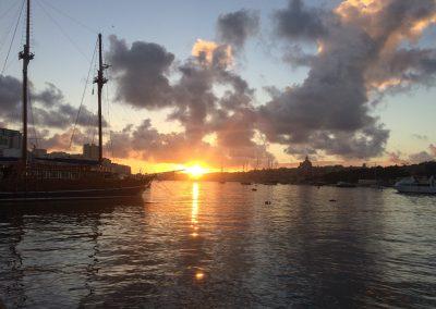 Východ slnka na Malte